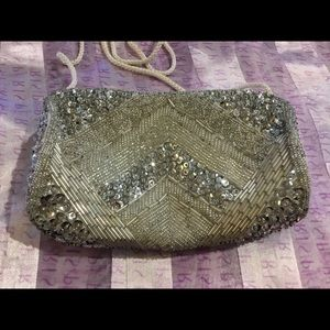 ❤️3/30 VTG Milor Sparkly Beaded Sequined  Bag